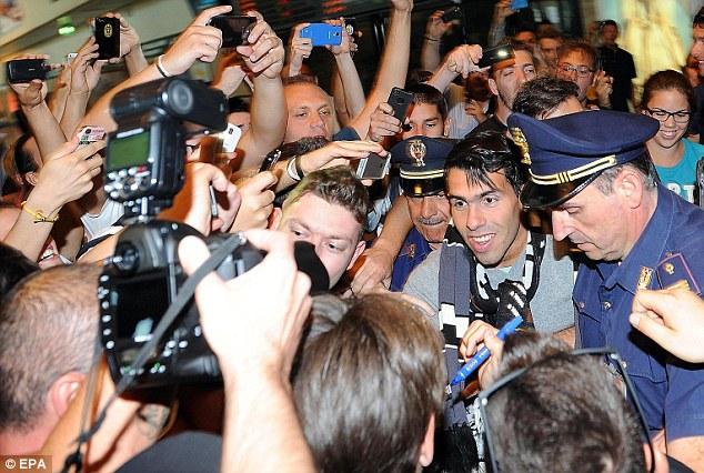 New challenge: Carlos Tevez left City for Juventus, where his arrival caused pandemonium