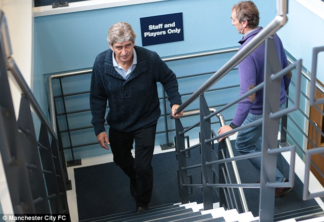 Step in the right direction: Manuel Pellegrini is looking to bring new faces to Manchester City