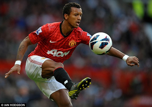 Fringe: Nani has been inconsistent at Manchester United and doesn't feature in David Moyes' plans
