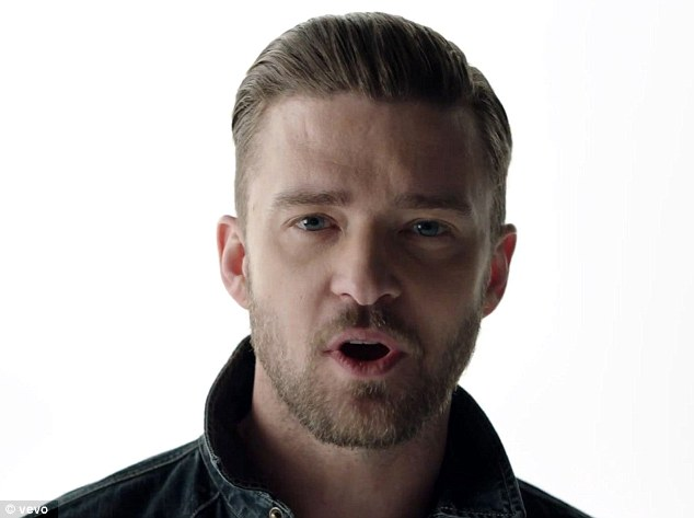 Longtime star: Justin, shown in his video for Tunnel Vision, rose to fame in the late 1990s as the lead singer of boy band 'N Sync