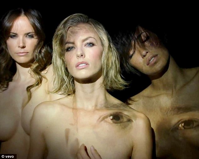 Dali-like imagery: Justin's face was superimposed on three women at one point in the video making for a surreal Salvador Dali-like image