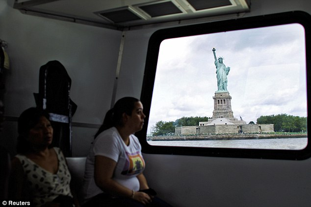 Visitors from across the world boarded the ferry to Liberty Island to get up close and personal with the Statue of Liberty