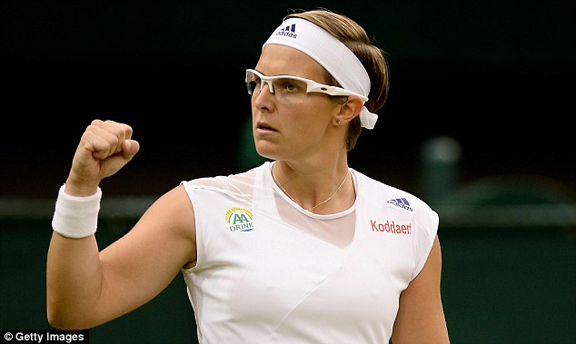 Shock win: Kirsten Flipkens defeated Petra Kvitova to reach her first Wimbledon semi-final