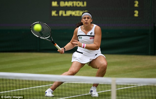 On top: Marion Bartoli took control of the match from the very start