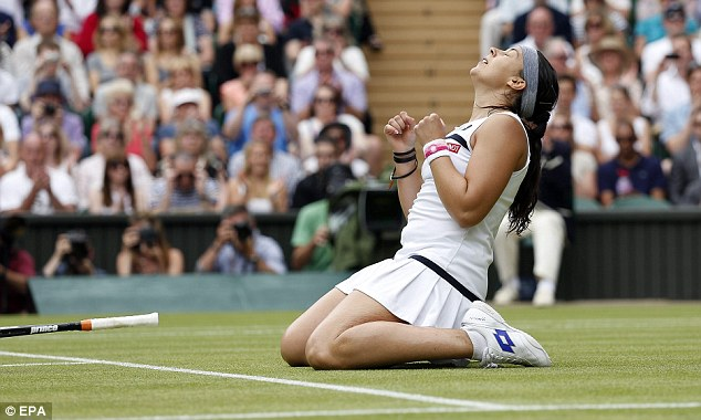Back in the final: Marion Bartoli reached her second Wimbledon final and her first since 2007
