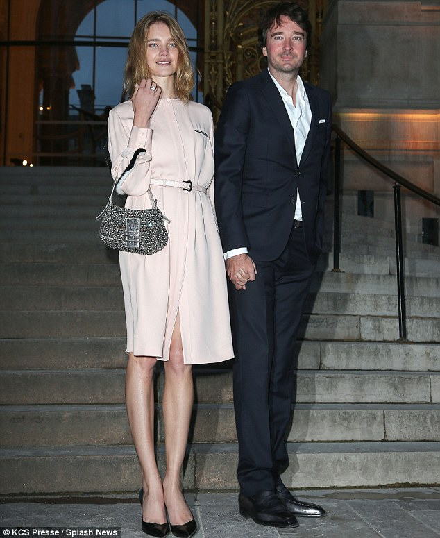 Glamour couple: No doubt many were jealous of Natalia Vodianova as she walked hand-in-hand with Antoine Arnault