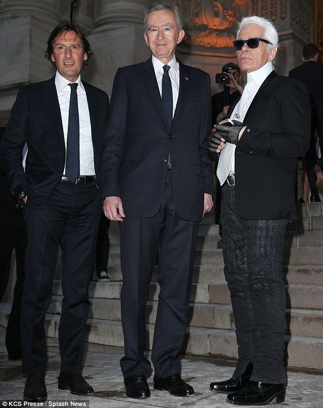 Boys will be boys: But Karl Lagerfeld and his friend Bernard Arnault adopted rather different stylistic modes