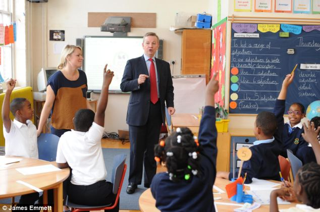 Mr Gove also urged the Church of England to to engage more in the Coalition's academies and free schools programme (file picture)