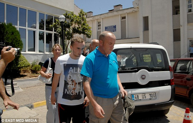 But just one week later, and the teenager, from Middlesborough, has made a marked recovery and  has left the Marmaris state hospital alongside his father Wayne, 52