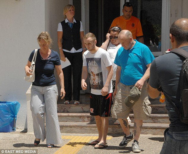 Dwayne was pictured leaving hospital with his family one week after the attack