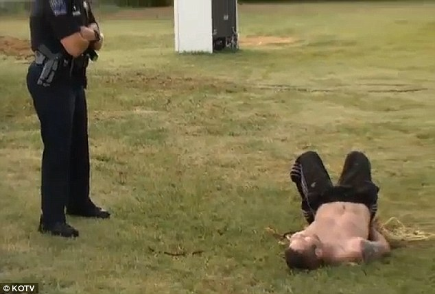 Occupied: Robert Cole was hogtied and left for police after he tried to break into a Tulsa home