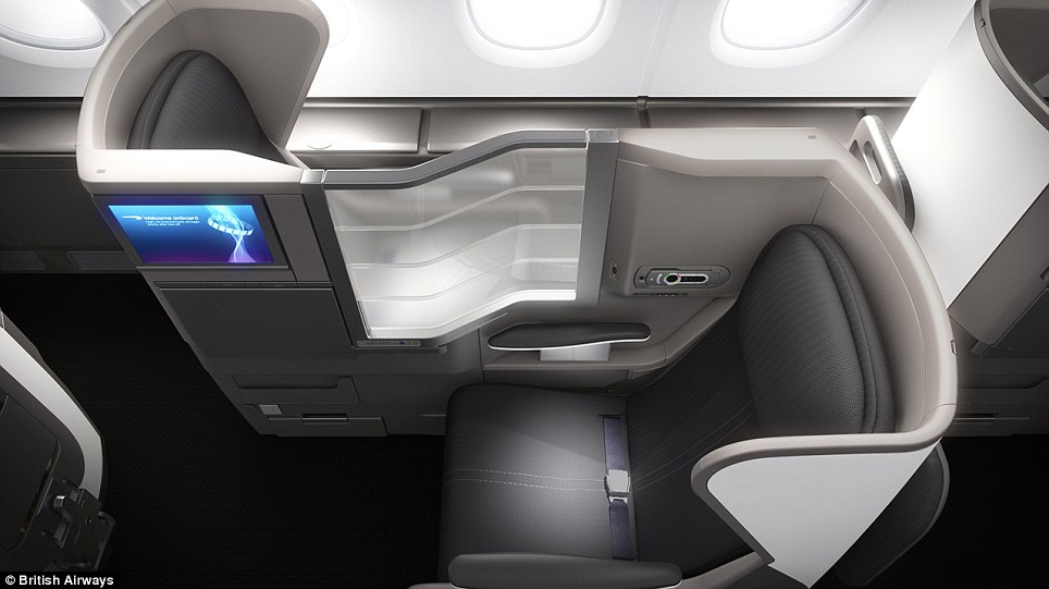 Legroom is 31 inches in economy, 38 inches in premium economy, there¿s a 6ft long bed in business class (Club World) and a luxurious 6ft 6 inch long bed in First Class
