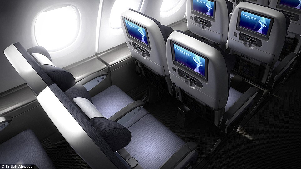 BA add that the new economy seats have been cleverly designed to be thinner backed and hollowed out to increase seating space for passengers
