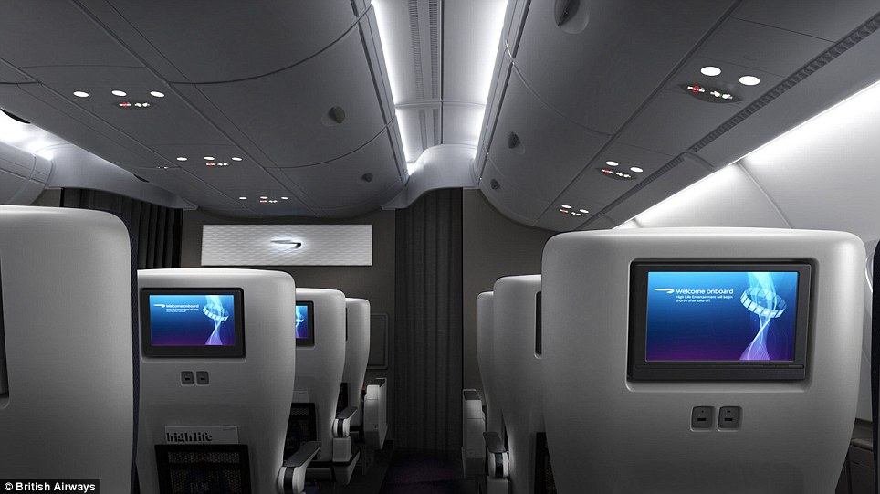 Airbus points out that the A380 has 50 per cent more floor-space than a Boeing 747 Jumbo jet - but the number of passengers is just 30 per cent more - meaning each one has more space