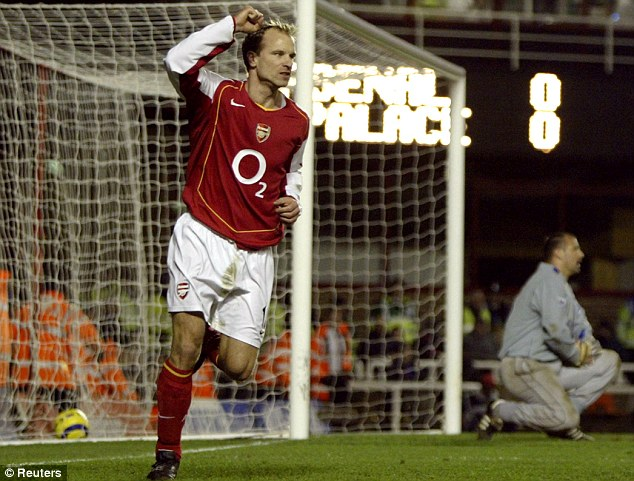 Original top Gunner: Dutchman Dennis Bergkamp became a legend during his time in north London