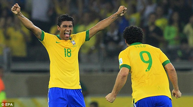Samba star: Arsenal's fierce rivals Tottenham have splashed out £17m on Brazilian Paulinho