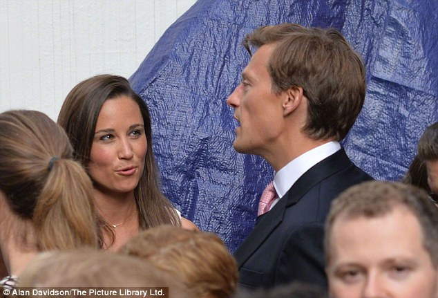 By her side: Pippa's boyfriend Nico Jackson attended the high-profile event with her