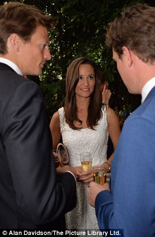 Mingling: Dressed in a summery white dress, Pippa mingled with some of the country's most powerful politicians