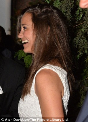 Having fun: George Osborne and Pippa Middleton seemed to be having fun at the party, which celebrates the weekly conservative magazine, which focuses on political and current events