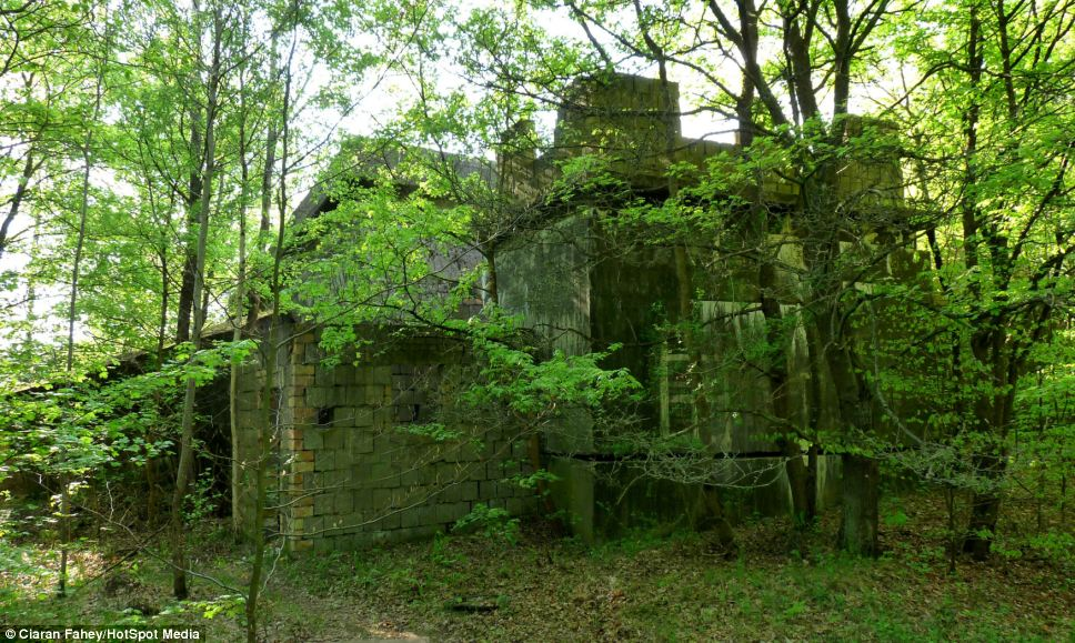 Hidden away: Lager Koralle, or Coral Camp, which was the Nazi naval command centre in the latter part of World War Two is tucked away in the remote German countryside