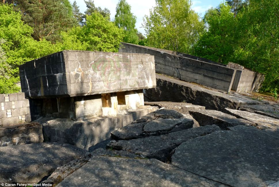 Key base: Most of the overground part of the bunker was destroyed by the Soviets at the end of the war, but much of its sub-surface space remains