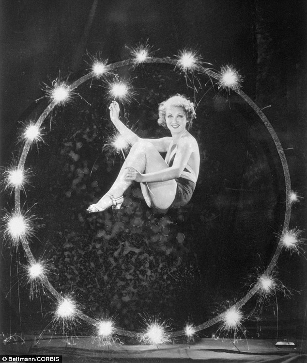 Light fantastic: Actress and wife of Hopalong Cassidy, Grace Bradley, sparkles in this 1933 picture