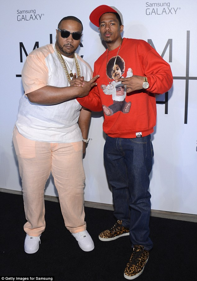 Support: Timbaland (who also appears on the album) and Nick Cannon also attended the party