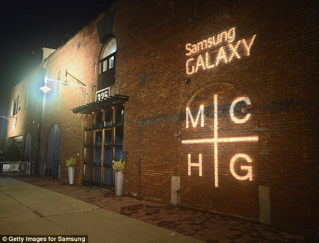 Warehouse party: The Samsung Mobile's celebration of the Magna Carta Holy Grail album was held at a warehouse in Brooklyn