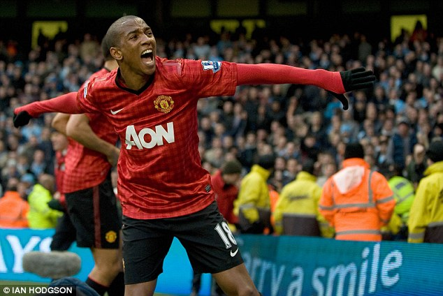Another: Ashley Young is another who will be a concern for David Moyes