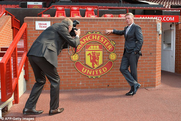 Maiden: David Moyes held his first press conference as Manchester United manager on Friday