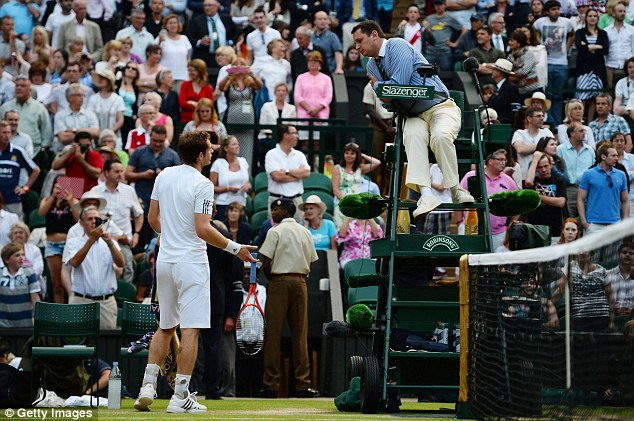 That won't help: Murray speaks with Chair Umpire speaks with Chair Umpire Jake Garner