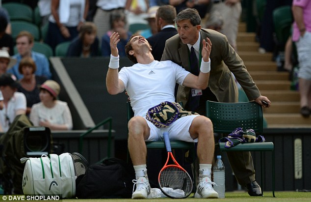 Raging: Andy Murray couldn't believe the decision by Wimbledon officials to stop play for bad light