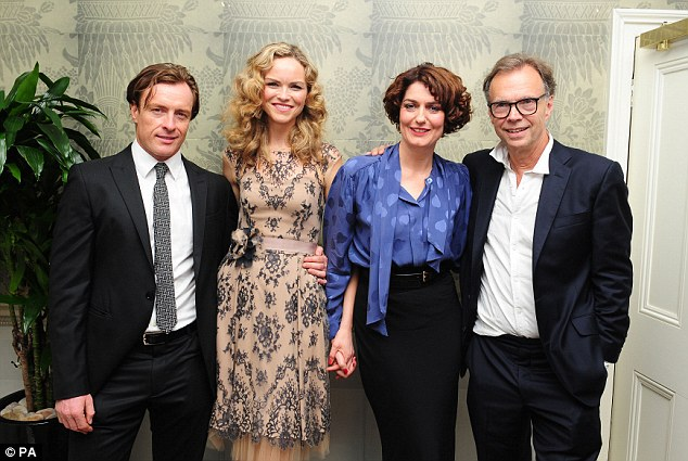 Cast: Toby Stephens, Anna-Louise Plowman, Anna Chancellor and Jonathan Kent at the opening night after-party for Noel Coward's Private Lives, held at Kettners in central London