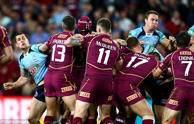 Battle: The previous State of Origin encounter featured a mass brawl