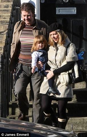 Kate Garraway, her husband Derek Draper, and their daughter Darcey, then three, in 2008