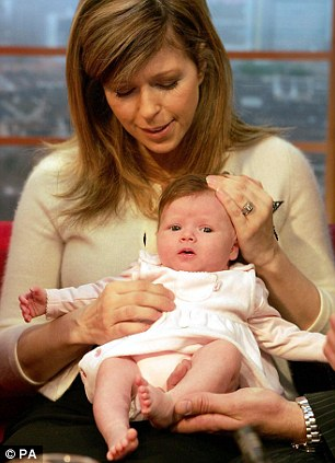 Kate Garraway, then 38, with her daughter Darcey in 2006