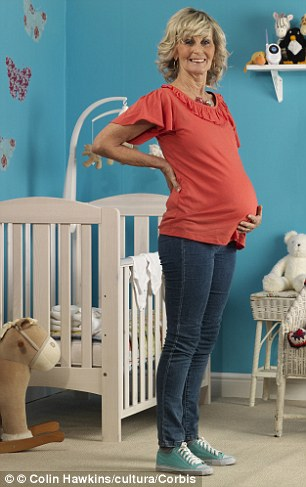 The number of women in their 40s having baby has risen by 15 per cent in five years