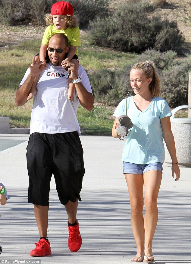 Adding to the family: Kendra's husband Hank Baskett was also on the trip, and the model said the pair decided on the vacation that they wanted to give their three-year-old son a brother or sister