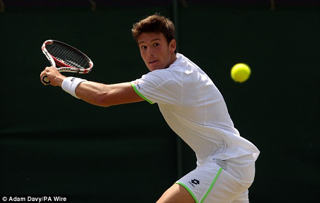Victor: Italian sixth seed Quinzi won 6-4, 6-4 in the first match on Court 3
