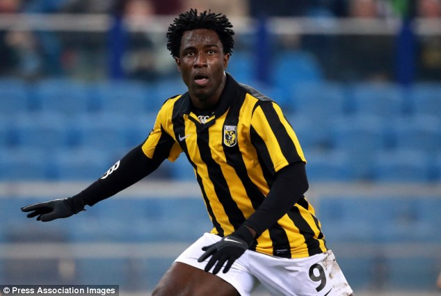 Stalled: Wilfried Bony will definitely leave Vitesse this summer but the club haven't accepted an offer yet, his agent revealed