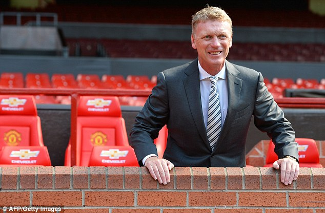 Getting to know you: Moyes in the Old Trafford dug out