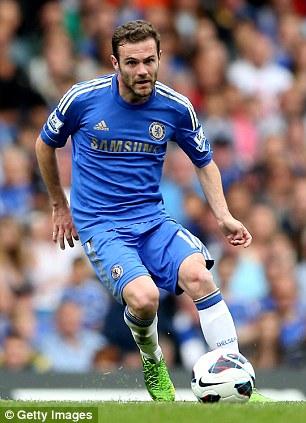 Juan Mata in action for Chelsea