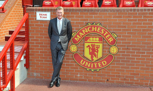 New boss: David Moyes was in the hot seat for his first press conference as Manchester United manager
