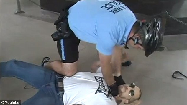 U.S. Park Police body-slammed and arrested Kokesh during a May 2011 protest in which a half-dozen activists held a 'dance-in' inside the Jefferson Memorial