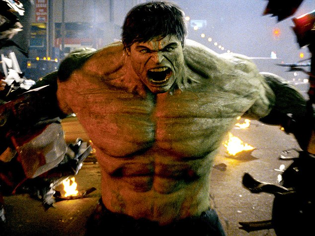It's clobbering time! Janowicz sparked comparisons with comic book character The Incredible Hulk