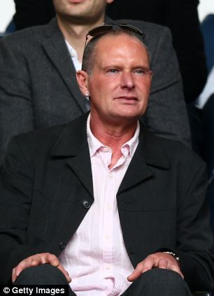Former football star Paul Gascoigne (pictured in April) has been arrested after an alleged drunken assault at a railway station