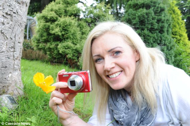 Brave: Janet Holden, from Accrington, Lancs., decided to chart her daily life through photography every day for a year after she was diagnosed with skin cancer