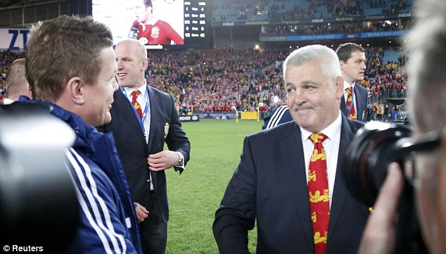 Talk of the town: Warren Gatland's decision to drop Brian O'Driscoll was vindicated in the end