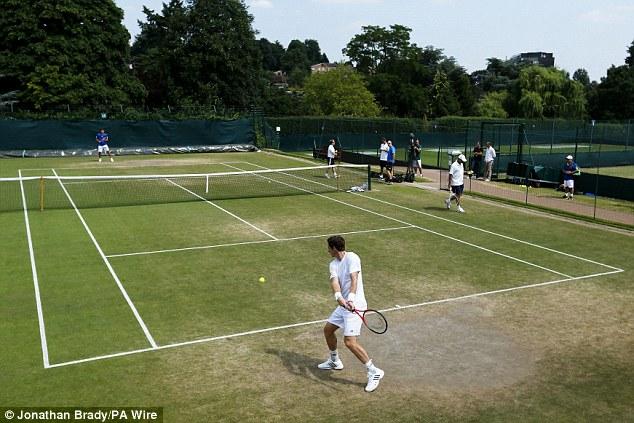 Task: Murray will play Novak Djokovic in Sunday's final on Centre Court