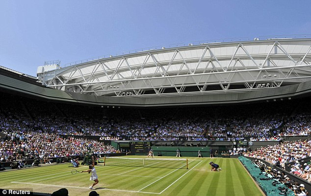 Turning up the heat: Centre Court was bathed in sunshine for the women's final